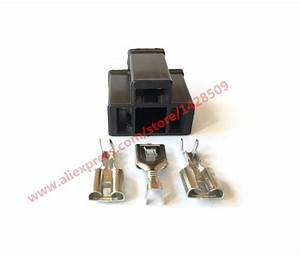 5 Sets 3 Pin Motorcycle H4 Hid Wire Connector Lamp Holder