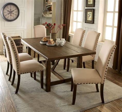 brentford rustic walnut rectangular dining room from furniture of america coleman furniture