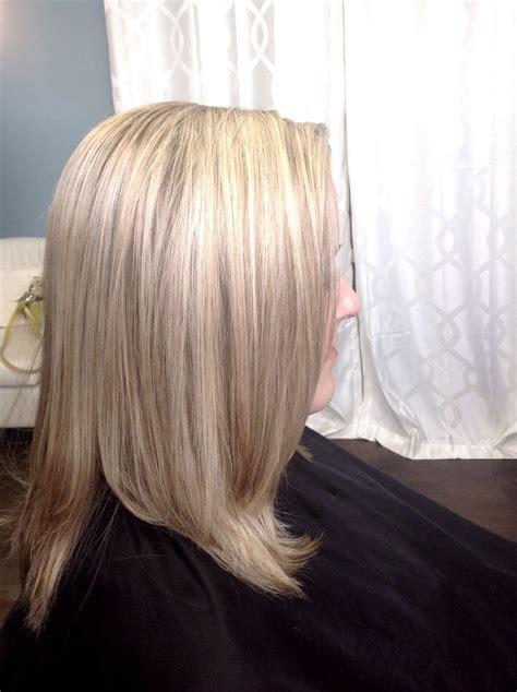 heavy highlight blonde redken  vol flash lift  toned