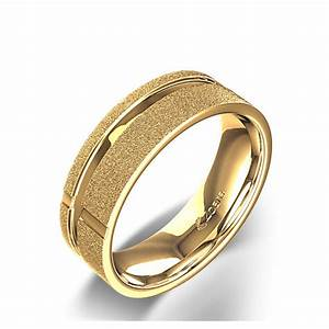 Broad christian cross wedding ring in 14k yellow gold for Wedding ring christian