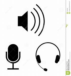 Audio Vector Icons Royalty Free Stock Photo - Image: 11037045
