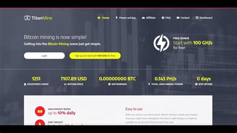 Exploring lightning network's challenges and. Updated Titan Mine Free mining for Bitcoin 10% daily ...