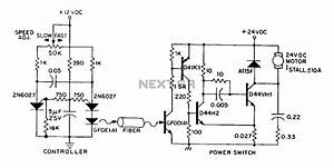 By Dc Variable Speed Motor Control Circuit Diagram Of An Optical Fiber Under Optical Sensing