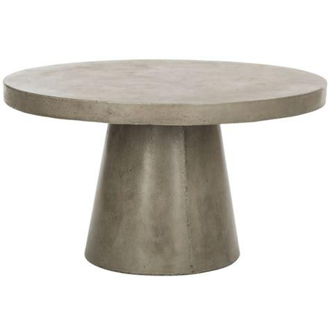 23.5l x 43.5w x 16.5h glass dimensions: Delfia Indoor/Outdoor Modern Concrete Round 27.56-Inch Dia Coffee Table