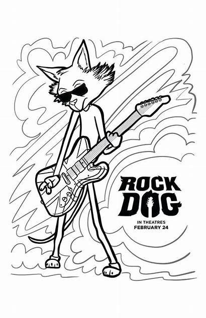 Coloring Dog Rock Pages Safety Halloween Band