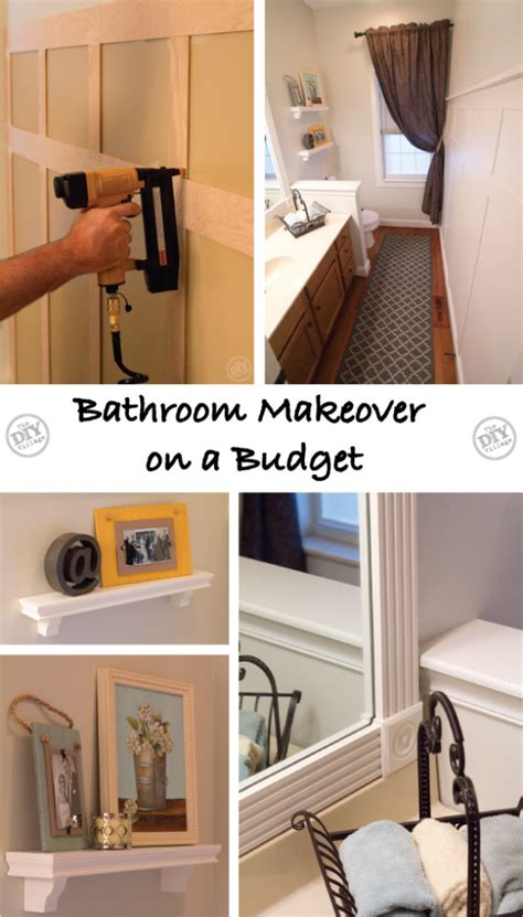A Bathroom Makeover On A Budget!  The Diy Village