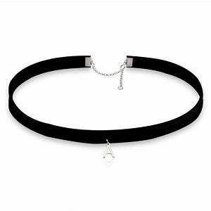 initial choker necklace With letter choker