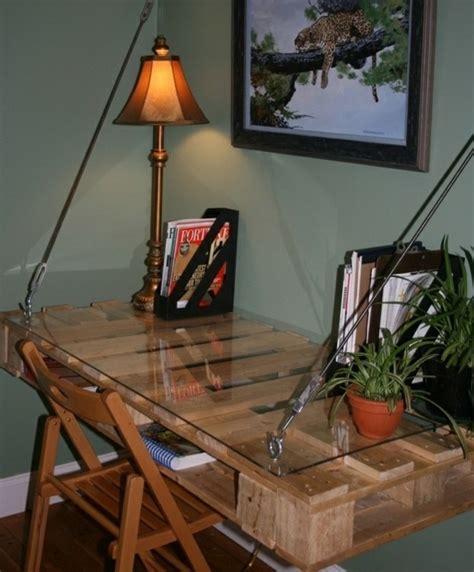 bureau en palettes fabriquer un bureau en palette dootdadoo com idées de