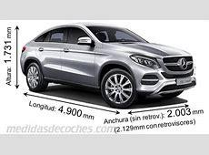 Medidas MercedesBenz GLE Coupé 2015, maletero e interior