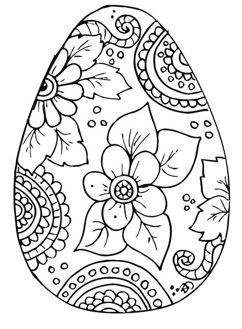 coloring page easter kleurplaat pasen easter egg