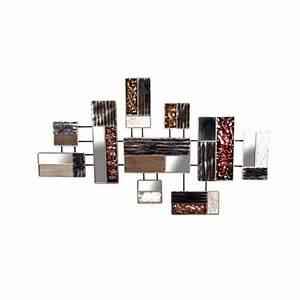 Décoration Murale En Bois : d coration murale patchwork de rectangles en bois miroir ~ Dailycaller-alerts.com Idées de Décoration