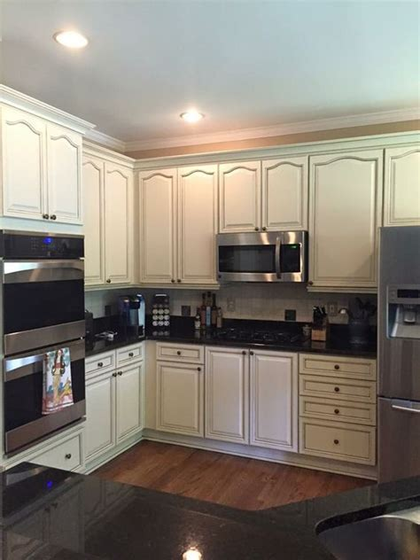 Sherwin Williams antique white cabinets by Kb walks