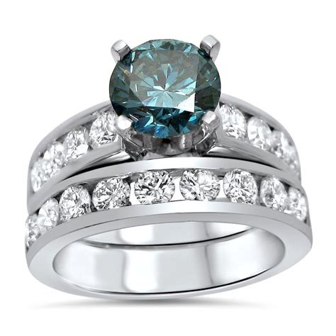 2 37ct blue engagement ring in platinum front jewelers