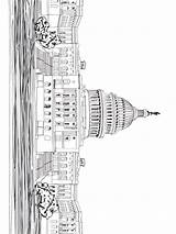 Coloring Capitol Building Pages Mycoloring Educational Printable sketch template