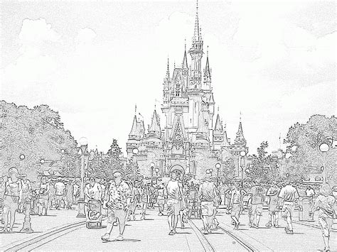 coloring page  castle coloring home