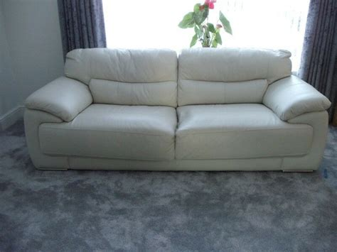 Scs Leather Settees by Scs White Leather Sofa And 1 X Chair 2015 In