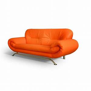 canape 3 places ameliane orange achat vente canape With canapé orange