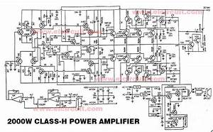 Powerful 2000w Power Amplifier Class-h