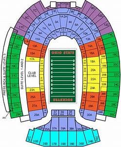 Ohio Football Stadium Seating Chart Ohio Stadium Maplets