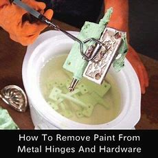 How To Remove Paint From Hinges And Hardware Homestead