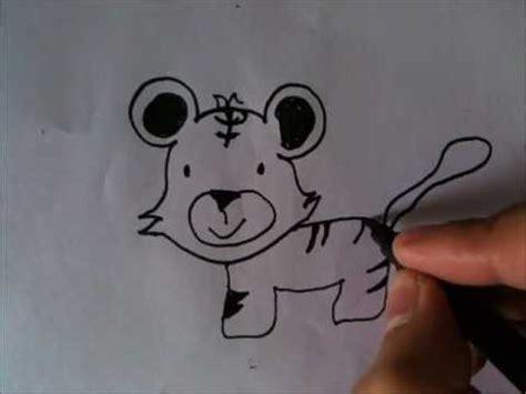 draw cartoon tiger youtube
