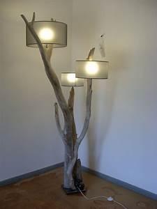 Luminaire En Bois Flotté : lampes et miroirs bois flott bois flott design et cr ation ~ Teatrodelosmanantiales.com Idées de Décoration