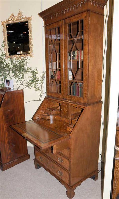 bureau cabine walnut bookcase bureau cabinet desk ebay