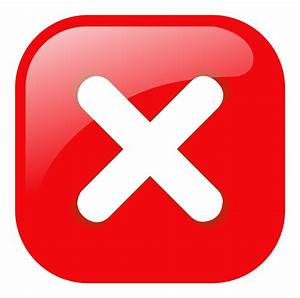 Clipart - red square error warning icon