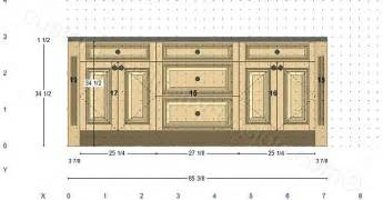 Kitchen Islands With Columns Cabinetry Floor Plan Elevations Design Layouts To Build Cabinets
