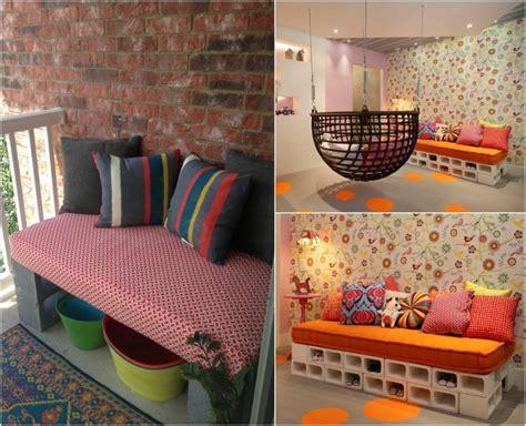 canapé de balcon parpaing creux comment en faire des meubles fonctionnels