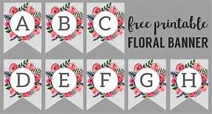 Floral Alphabet Banner Letters Free Printable - Paper