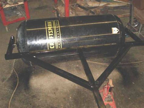 homemade lawn roller lawn equipment lawn garden tool shed