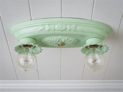 Pair Available! Vintage Rewired Flush Mount Ceiling Light