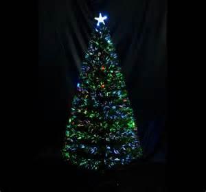 5 9 christmas tree led lights fiber optic multi color decration w stand ebay