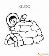 Igloo Coloring Eskimo Template Learning Templates sketch template