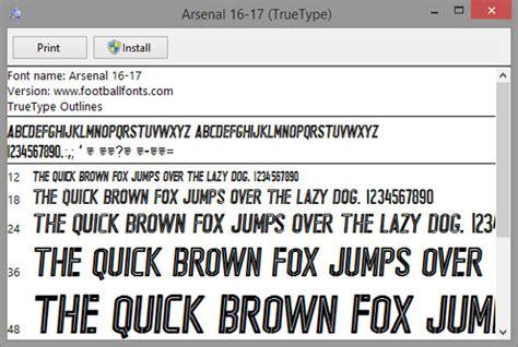 Arsenal F.C. Font | Delta Fonts