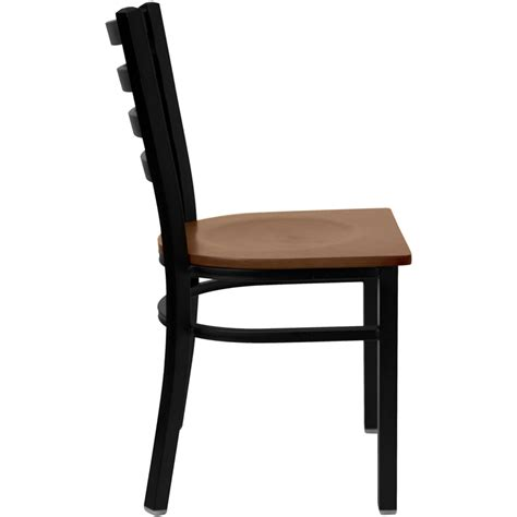 black ladder back chairs with seats hercules black ladder back metal restaurant chair with 9771
