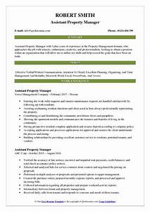 Assistant Property Manager Resume Objective Assistant Property Manager Resume Samples Qwikresume