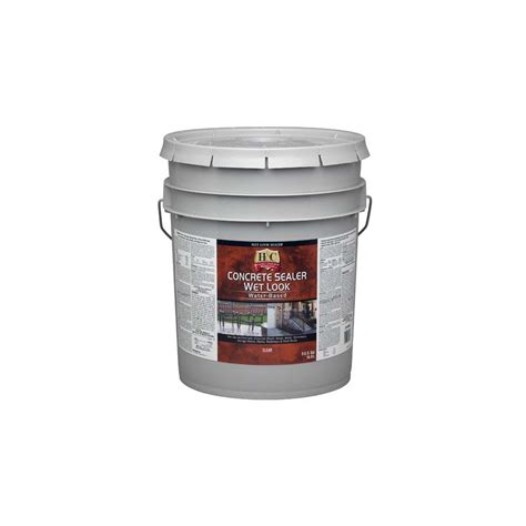 shop h c 5 gallon water based concrete sealer at lowes