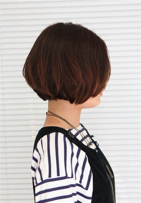 korean hairstyle  pretty center parted bob haircut hairstyles weekly