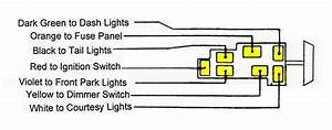 Chevy Headlight Switch  1957