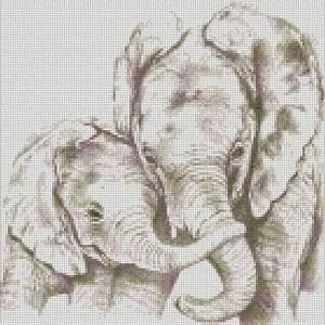 Wedding Card Pattern Cross Stitch Kit Elephant And Baby Folksy