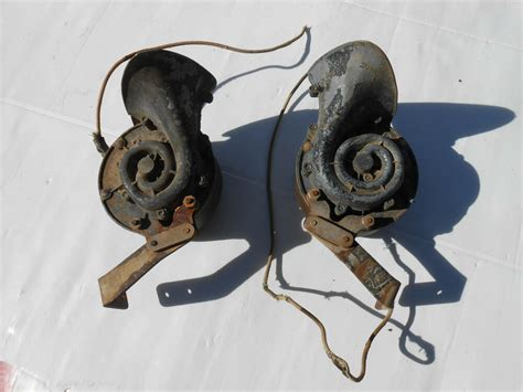 1950 Dodge Twin Car Horns With Original Mounting Bolts