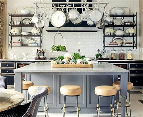 kitchen island with open shelves open kitchen shelving thayer reed