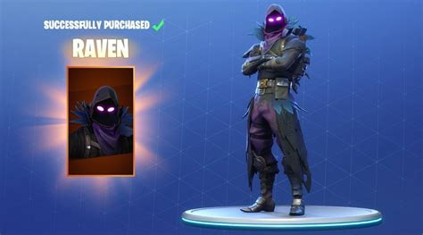 fortnite releases awesome raven skin  glider game rant