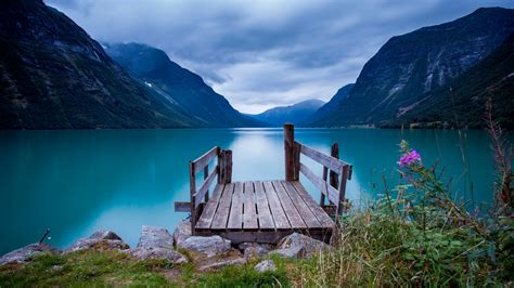 wallpaper norway   wallpaper bridge sea lake