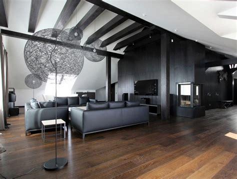 wohnzimmer dunkler boden wohnzimmer in grau und schwarz gestalten 50 wohnideen