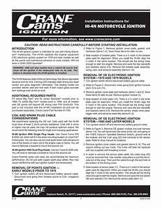 Crane Hi 4n Ignition Instructions