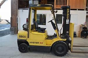 Hyster Forklift 50 Xm  5000lbs Forklift  3 Stage Mast