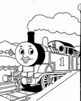 Thomas Tank Coloring Engine Pages Cartoon sketch template